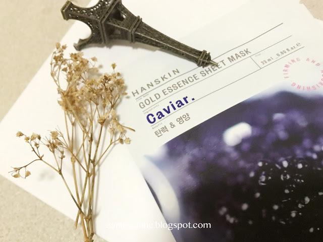HANSKIN | Gold Essence Sheet Mask Caviar Review By Zanne Xanne