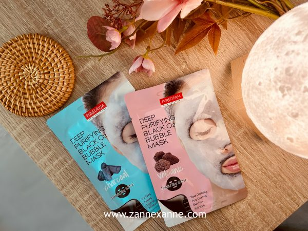 PUREDERM Deep Purifying Black O2 Bubbles Mask Review by Zanne Xanne