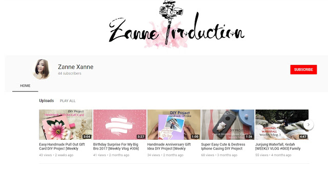 DAIRY #3 | YouTube Channel ~ Zanne Production