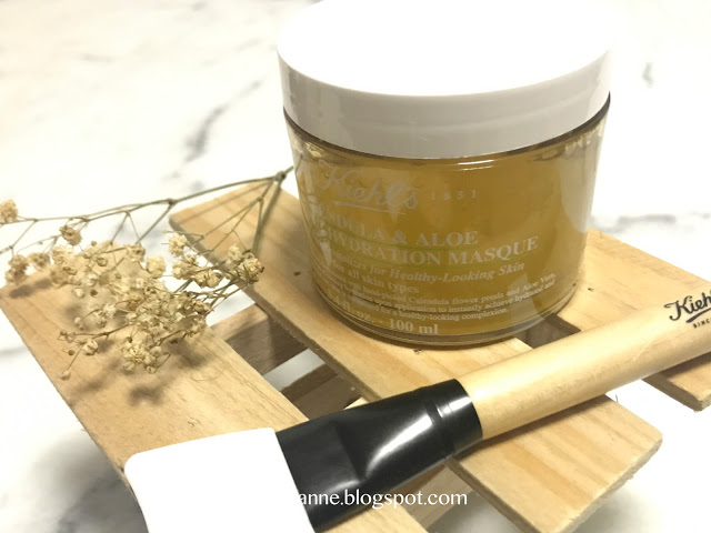 KIEHL   Calendula & Aloe Soothing Hydration Masque Review By Zanne Xanne