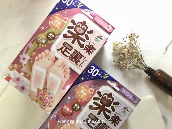 Rakuraku Relaxing Sheet For Sole Detox Foot Pads Review By Zanne Xanne